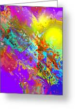 Abstract Eight-chroma Greeting Card