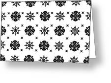 Abstract Ethnic Seamless Floral Pattern Design Greeting Card