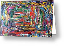 Abstract Expressionism Bvdschueren Greeting Card