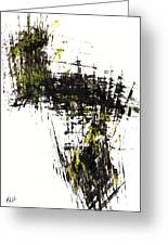 Abstract Expressionism Intensive Painting 62.102511   Greeting Card