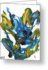 Abstract Expressionism Painting Series 715.102710 Greeting Card