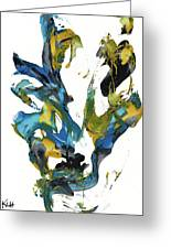 Abstract Expressionism Painting Series 716.102710 Greeting Card