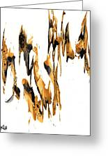 Abstract Expressionism Painting Series 734.102910 Greeting Card