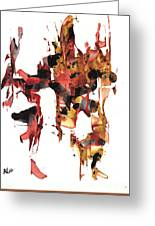 Abstract Expressionism Painting Series 744.102110 Greeting Card