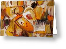 Abstract Expressionism Three Greeting Card