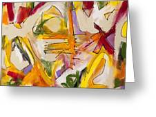 Abstract Expressionism Two Greeting Card