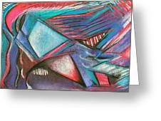 Abstract Expressive 001  Greeting Card