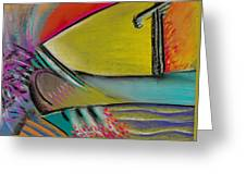 Abstract Expressive 002 Greeting Card