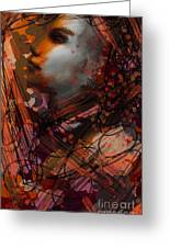 Abstract Face #0066 Greeting Card
