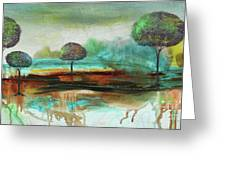 Abstract Fantasy Landscape Greeting Card
