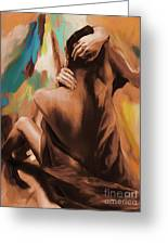 Abstract Female Back  Greeting Card