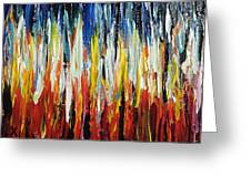 Abstract Fire And Ice Greeting Card