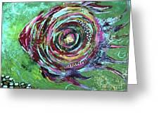 Abstract Fish Greeting Card