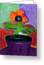 Abstract Floral Art 114 Greeting Card