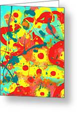 Abstract Floral Fantasy Panel A Greeting Card