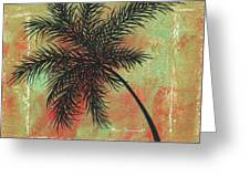 Abstract Floral Fauna Palm Tree Leaf Tropical Palm Splash Abstract Art By Megan Duncanson  Greeting Card