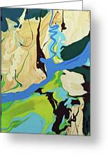 Abstract Flow Green-blue Series No.2 Greeting Card
