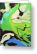 Abstract Flow Green-blue Series No.3 Greeting Card