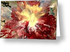 Abstract Flower Greeting Card by Denise Tomasura