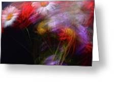 Abstract Flowers One Greeting Card