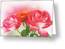 Abstract Flowers Spring Background Greeting Card