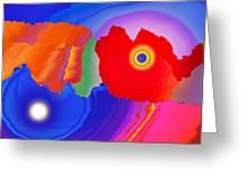 Abstract Fortaleza 2 Greeting Card