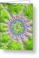 Abstract Fractal Art Greenery Rose Quartz Serenity Greeting Card