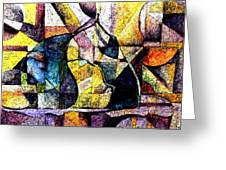 Abstract Fruit Still Life Greeting Card
