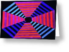 Abstract Fun Tunnel Greeting Card