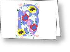 Abstract Garden #1 Greeting Card by Bee-Bee Deigner