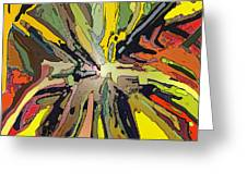 Abstract Garden Defined Greeting Card