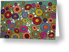 Abstract Garden Greeting Card