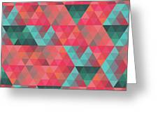 Abstract Geometric Colorful Endless Triangles Abstract Art Greeting Card