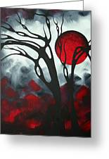 Abstract Gothic Art Original Landscape Painting Imagine I By Madart Greeting Card