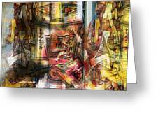 Abstract Graffitis Greeting Card