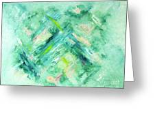Abstract Green Blue Greeting Card