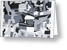 Abstract Grey Greeting Card