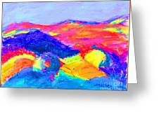 Abstract Hills Greeting Card