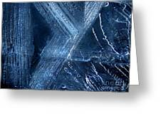 Abstract Ice. Darkness Greeting Card