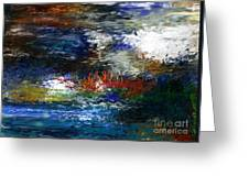 Abstract Impression 5-9-09 Greeting Card