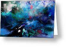 Abstract Improvisation Greeting Card by Wolfgang Schweizer