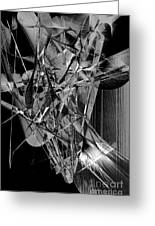 Abstract In Black And White 2 Greeting Card