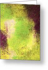Abstract In Green And Brown Greeting Card