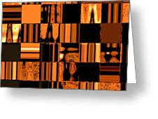 Abstract In Orange And Black Greeting Card