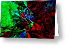 Abstract In Red And Green Greeting Card