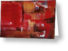 Abstract In Red Greeting Card