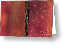 Abstract In Rose And Copper Greeting Card