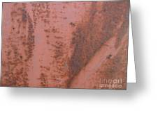 Abstract In Rust Greeting Card