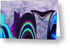Abstract In The Clouds Greeting Card