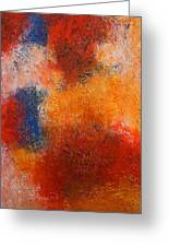Abstract In Warm Colors Greeting Card